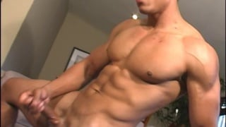 Chiseled Latin Stud Stroking his Big Cock