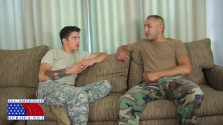 Studs in Military Camouflage Fuck