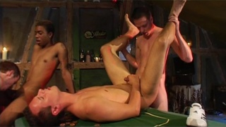 They Win a Boyish Bubble Butt in Strip Poker Game