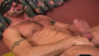Hairy Masked Hunk Jacking Off