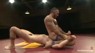 Nude Wrestling then Anal Sex
