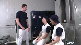 Coach Andrew Stark & 2 Baseball Players