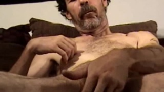 Big-Dicked Hairy Man Beating Off