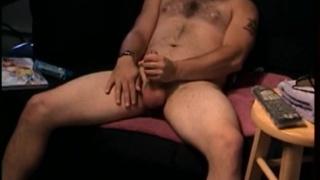 Tattooed & Furry Str8 Dude Jacks Off