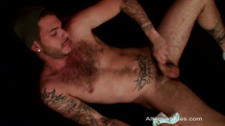 Furry Tattooed Guy Loves his Underwear