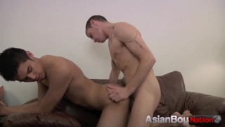 Mixed Raced Guy Fucking with Hot White Boy
