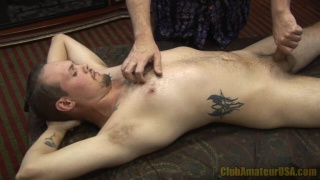 Hot Guy with Chin Scruff Rub and Tug