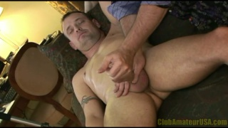 Stud Gets his Long Cock Stroked