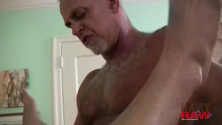 Grey-Hair Daddy Raw Fucking His Bottom