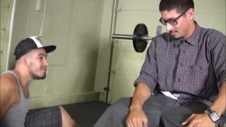 Latinos Sucking Dick on Workout Bench