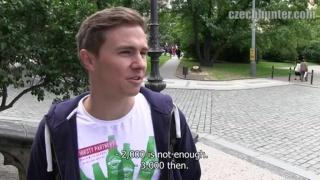 Blond Czech Sells His Ass for Cash
