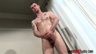 Skinny Brit Lad with a Fat Cock