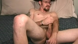 College Cowboy Dildo Fucking his Ass