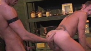 Colin Steel fists Bo Matthew's hole