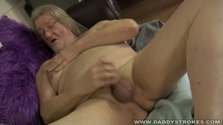 Chubby Ugly Old Man Jacking Off