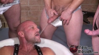 Bottom's Bath Tub Piss Orgy