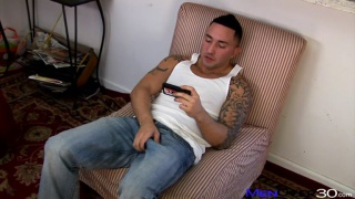 Tattooed South American Jacks his Dick
