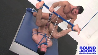 Bound, Legs Strung Up and Fucked