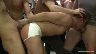 Homophobe Gang Fucked in Public Toilet