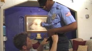 Black cop fucks white convict