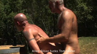 Daddies have anal outdoors
