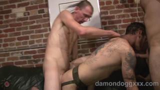 Damon Dogg Takes Two Cocks