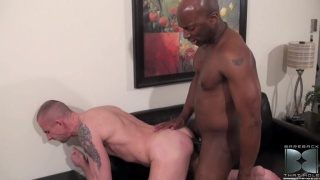 Muscled Bottom Takes a Big Raw Cock