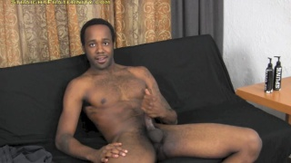 Ripped Black Stud's JO Audition