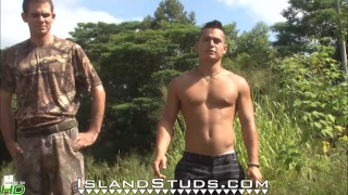 3 Naked Studs Outdoor Target Practice