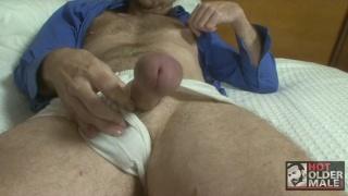 Hung Daddy in Underwear Jacks Off