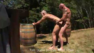 Allen and Tom fuck outdoors