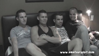 4 Hot Guys on a Bed