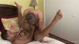 Blond White Boy & Latino Fucking