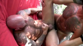 Bo Bangor and Drake Jaden Fuck Outdoors