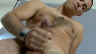 Hot and horny Frenchman with uncut dick