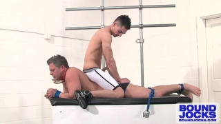 Johnny Torque Ties Up and Use Brenden Cage
