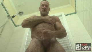 Handsome Hairy Daddy Masturbating