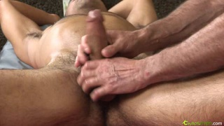 Straight Dudes Gets Dick Serviced on Massage Table