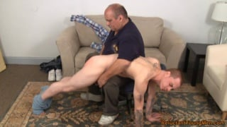 Straight Boy Over Daddy's Knee