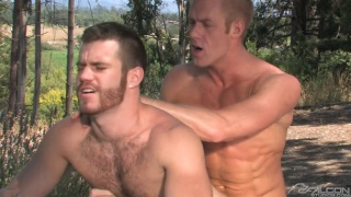 Christopher Daniels Fucks Trent Locke Outdoors