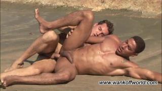 Barebacking Hunks on the Beach