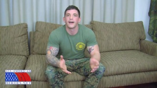 Hot US Marine Sergeant Jacks Off