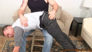 Young Stud's Over the Knee Spanking