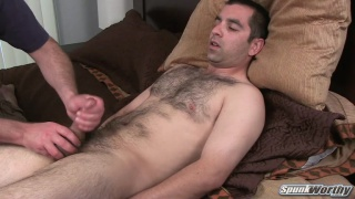 Hairy Guy Returns for a Handjob