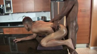 Black Dudes Fucking in the Kitchen