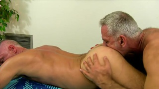 Grey Haired Bareback Hole Plugger