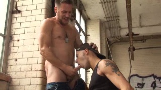 Euro Studs Fucking in Dirty Warehouse