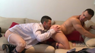 Business Men Fucking on the Couch