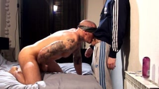 Blindfolded Bottom Fucked by Straight Dude