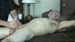 Servicing a Bald Guy on Massage Table